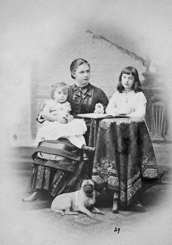 Princesses Elisabeth, Marie and Sybille of Hesse, daughters of the Landgrave Frederick, 1881