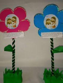 Hola, Lindas educadoras!!  Para nuestro recuerdo de esta semana hicimos una linda flor, así de esa manera tiene que florecer la humildad en...