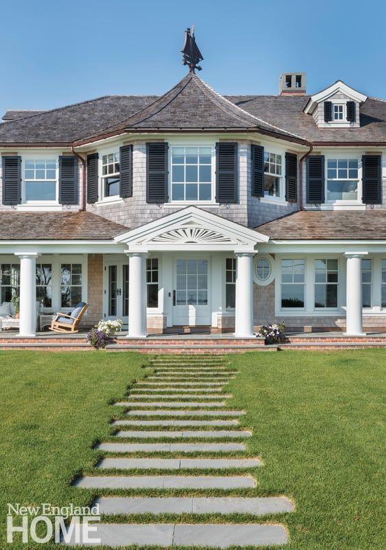 Sidewalk House And Home Magazine New England Homes Shingle Style Homes