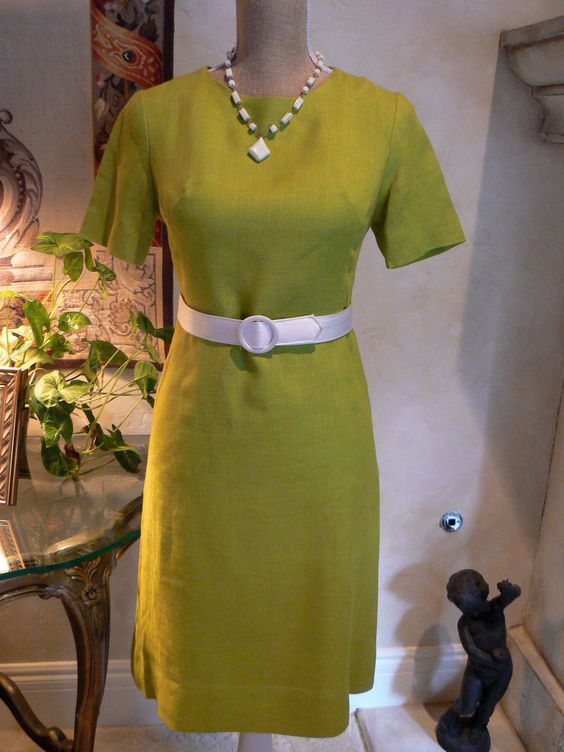"1960's Green Wiggle Dress ""The Joan"". $25.00, via Etsy."