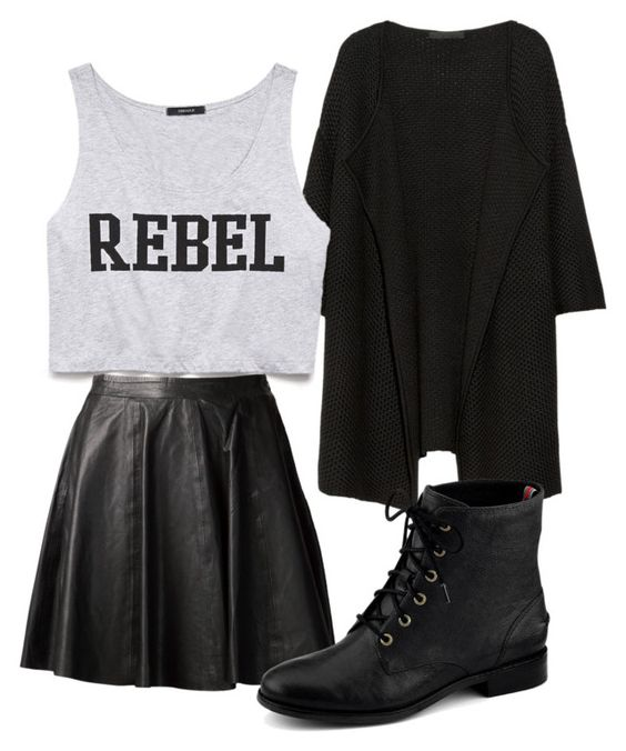 """Untitled #935"" by outfits-onedirection ❤ liked on Polyvore featuring Karl Lagerfeld, Forever 21, MuuBaa, Sperry Top-Sider, women's clothing, women, female, woman, misses and juniors"