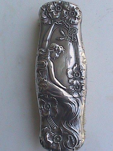 Antique Art Nouveau 1903 Sterling Silver Unger Bros. Brush