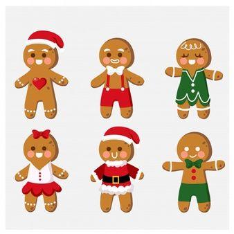 Gingerbread Man Wearing A Santa Hat Clip Art Preschool Christmas Crafts Christmas Coloring Sheets Christmas Gift Card