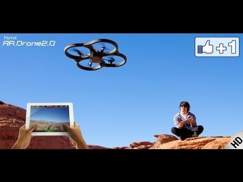 Parrot AR.Drone 2.0 - Fly and Record in HD. It's $300, but is't awesome! It also goes 24 mph!