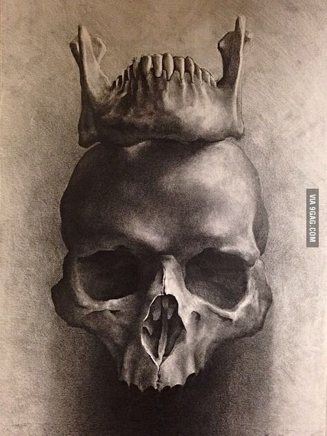 Skull Jaw Tattoo: My Art Teacher Drew This Yesterday, Just Me Or Awesome