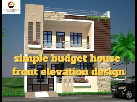 Simple Budget House Front Elevation Design Best Indian Home Elevation 2017 Youtube Front Elevation Designs House Elevation Modern House Design