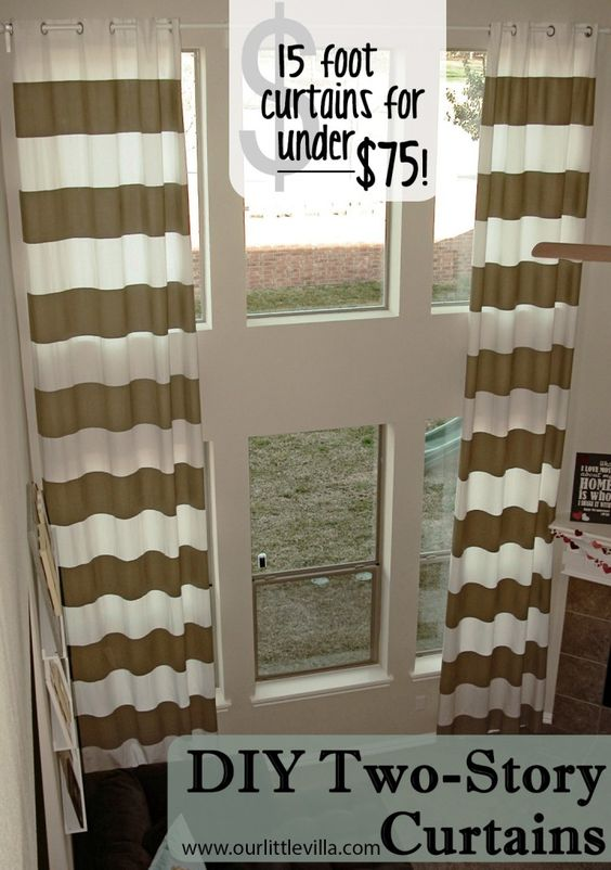Story Foyer Window Curtains : Would love this for the foyer striped curtains but in a