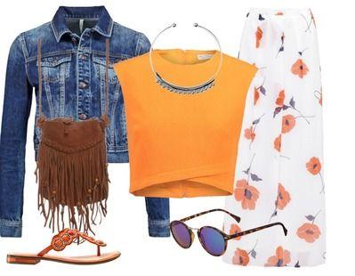 Ga deze zomer voor kleur, maxi en fringes. deze outfit heeft het allemaal en is daarom perfect voor een mooie warme zomer avond.