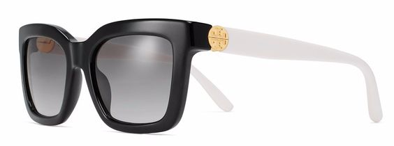 Black and White Split-Hinge Sunglasses