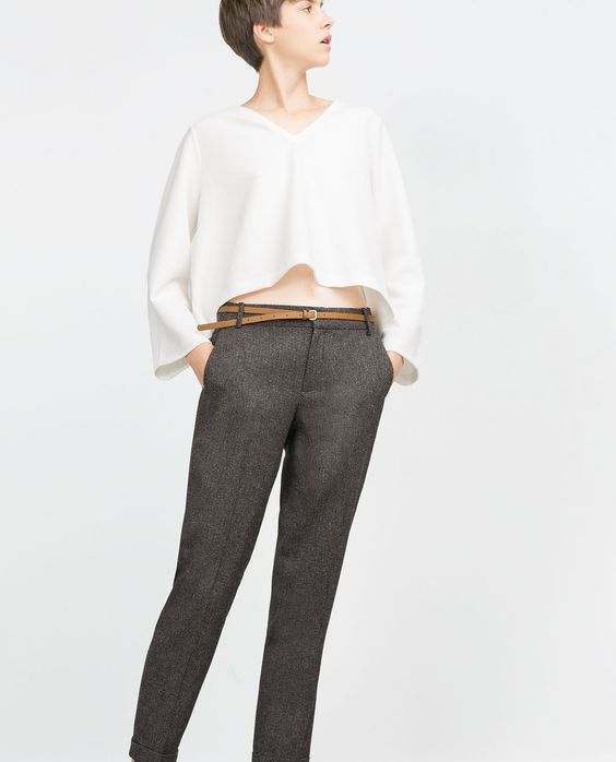 Image 2 of TWEED TROUSERS from Zara