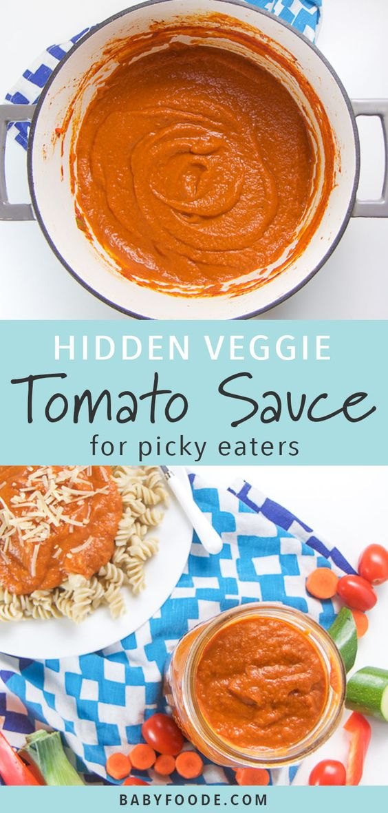 Veggie-Loaded Tomato Sauce for Toddlers + Kids (Great for Picky Eaters!) - Baby Foode