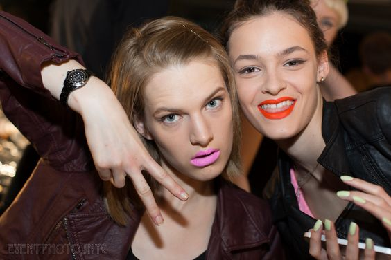 Ashleigh and Kremi backstage at Prabal Gurung show s/s14. #maccosmetics