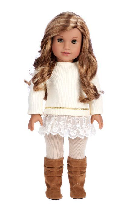 Amazon.com: Romantic Melody - 3 Piece Outfit - Tunic, Leggings and Boots.   (Doll Not Included): Toys & Games