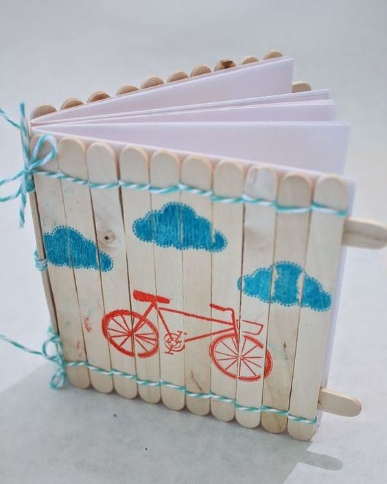 Popsicle Stick Notebook: