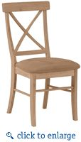 (WWC613UP-C613UP) Hardwood X-Back Dining Chair with Upholstered Seat  - 2 Pack - Click to enlarge