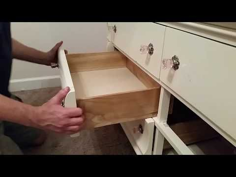 Project 15 Dresser Drawer Slide Replacement Youtube Drawer