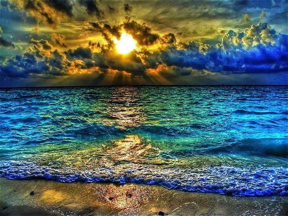 Colorful oceans