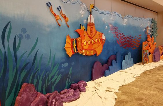Submerged VBS 2016 Full view of Submerged VBS backdrop. Photo taken at the Lifeway 2016 VBS Preview Event in Fort Worth, Texas.