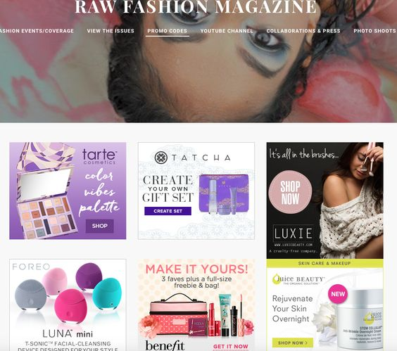 Check out new promos & discount codes just added to our site. Click on the pix for discounts applied in your cart!! #rawfashionmagazine #luxiebeauty #fleek #makeupgirlz #cosmetics #makeup #makeuplover #beautyqueen #beautyblogger #beauty #promocode #promo #brushes #ofra #makeupbrushes #makeuptools #cosmetics #ofracosmetics #couponcode #fanbrush #iheartmakeup #couponcodes #promocode #discount #discountcodes #promo #ilycouture #shop #fashion #summerhaul #springhaul #fashionhaul