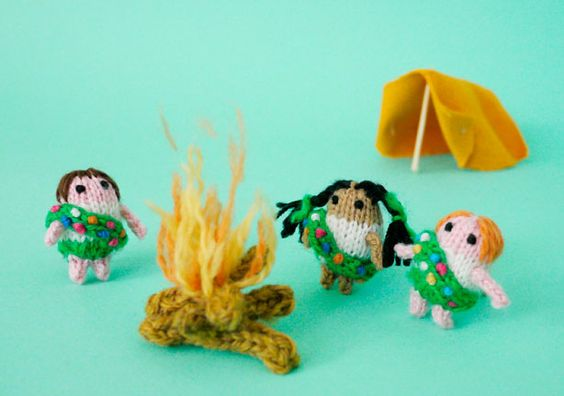 Crocheted Girl Scouts
