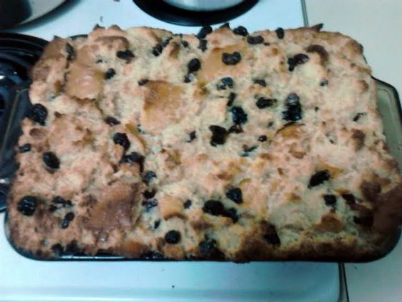 """BREAD PUDDING WITH WHISKEY SAUCE-Bon Ton Cafe! """"very simple recipe for a lot of taste. so many variations possible but this is a good place to start.""""  @allthecooks #recipe #dessert #pudding #bread #cajun #christmas"""