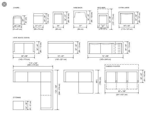 Standard Sofa Dimensions, Standard Furniture Dimensions