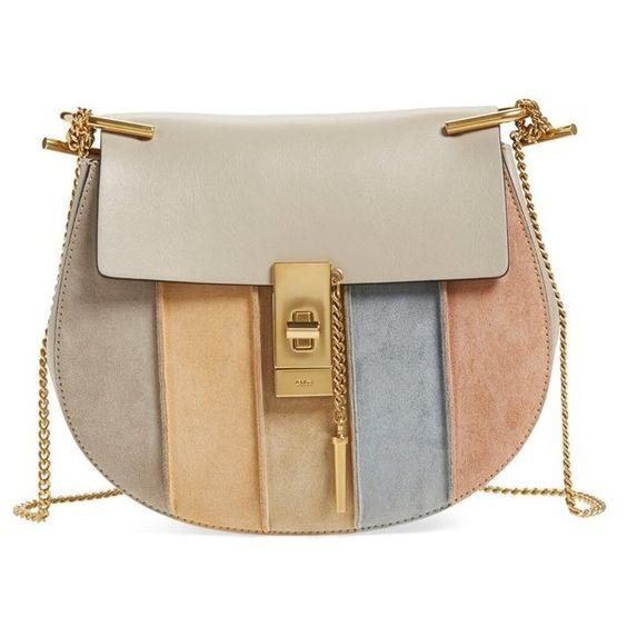 chloe bags replicas - Chloe 'Small Drew' Suede Stripe Crossbody Bag (�1.765) ? liked on ...