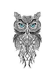 Image result for owl tattoo design old school