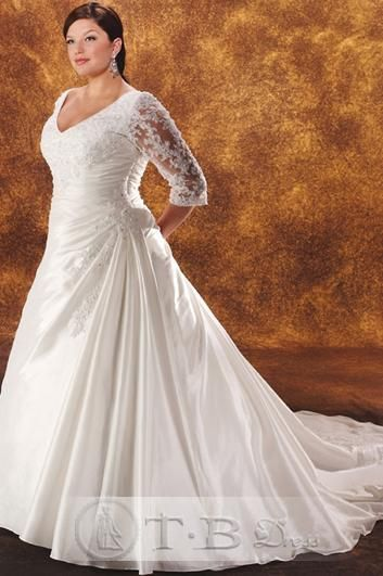 A-Line/princess V-Neck Cathedral Bridal Gown (3H0021)   $150.39