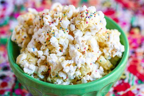Birthday Cake Batter Popcorn--look good