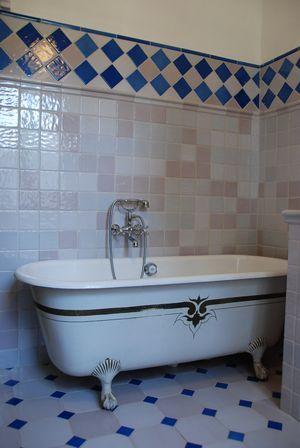Carrelage bleu m diterran e cuisine salle de bains for Carrelage bleu salle de bain