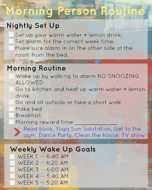 HOW TO BECOME A MORNING PERSON IN 10 EASY STEPS