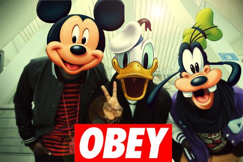 image for obey swag tumblr mickey mouse obey pinterest souris. Black Bedroom Furniture Sets. Home Design Ideas