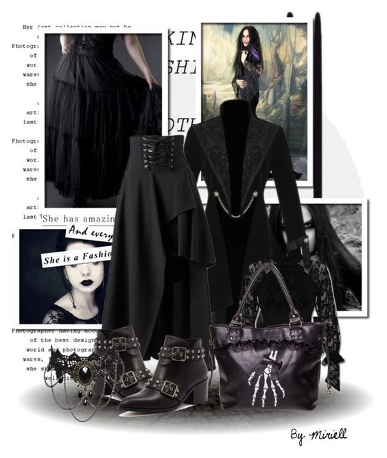 """""""How to wear goth maxi skirts"""" by beverlyridgway ❤ liked on Polyvore featuring Alias Mae"""