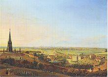 Kreuzberg (Berlin)    Blick vom Kreuzberg, Gemälde von Johann Heinrich Hintze, 1829