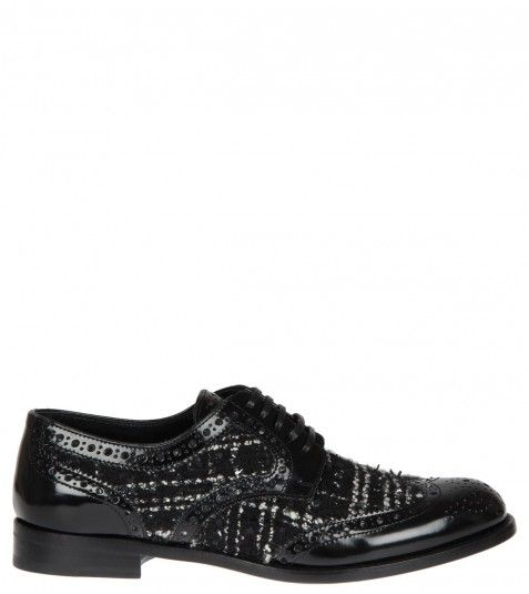 Dolce & Gabbana Black Patent Leather Brogue Shoes from www.profilefashion.com