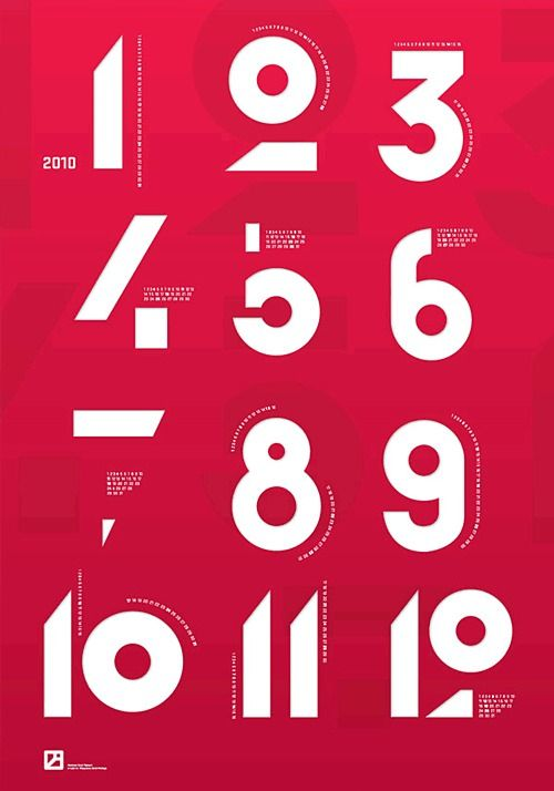 Numbers: Graphic Design, Typographic Calendar, Poster Design, Typography Number, Typography Design, Design Typography, Krzysztof Iwanski