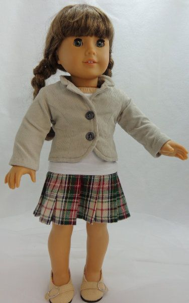 18 Inch Doll Jacket, Skirt, and Tee. $38.00, via Etsy.