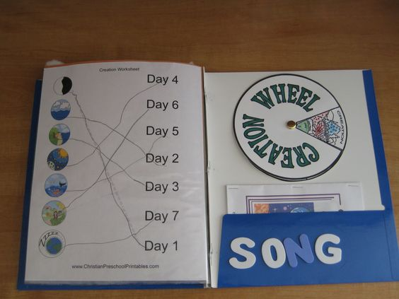 Seven days of creation wheel creation crafts wheels and craft 7 days of creation crafts the creation worksheet we did and the wheel we made sciox Choice Image