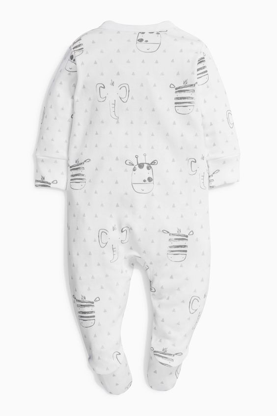 Buy Monochrome Giraffe Sleepsuits Three Pack (0mths-2yrs) from the Next UK…