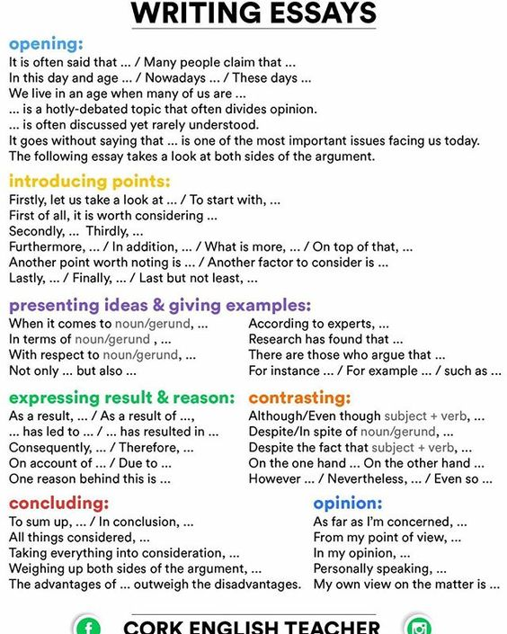 linking words in writing
