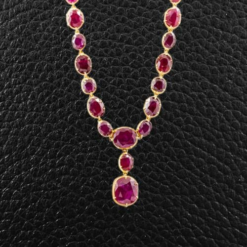 Mrs. Corbin's ruby necklace