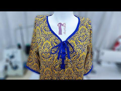 طريقة خياطة موديل صدر دشداشة نسائية رائعة بطريقة سهلة و بسيطة خياطة بدعية Blouse Design Youtube Women S Top Fashion Women