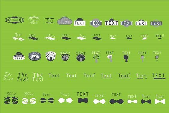 Logo Elements - Illustrator Design Asset Vector Download - Design Preview
