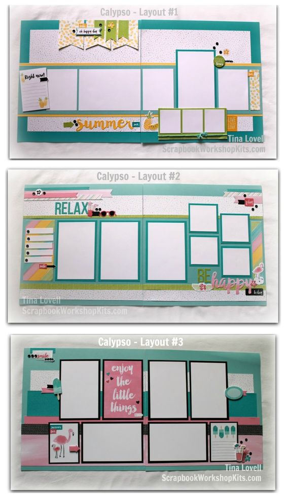 Scrapbooking Kits: Scrapbook Layout Cutting Guides