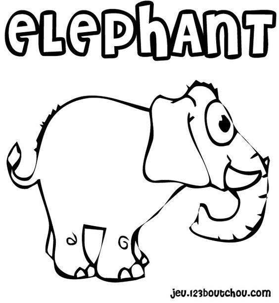 coloriage La surprise du elephant gratuit à imprimer pour enfant - activite.assistante-maternelle.biz
