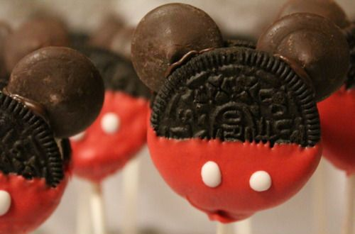 mickey and minnie mouse cookie pops  birthday  by Cakepopstop, $25.00