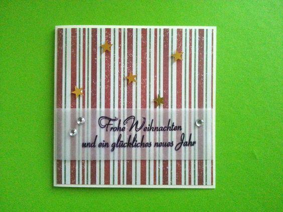 """Weiteres - Grußkarte """"Christmas Stripes"""" - ein Designerstück von ecinue-design bei DaWanda"""