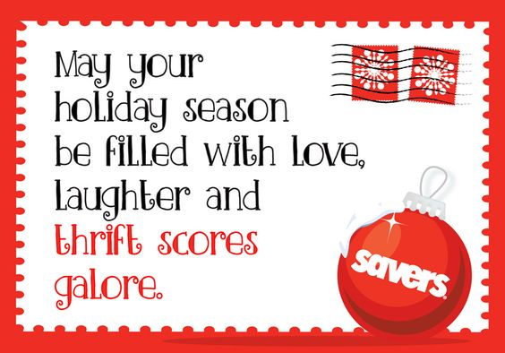 season's greetings. holiday merriment. savers.