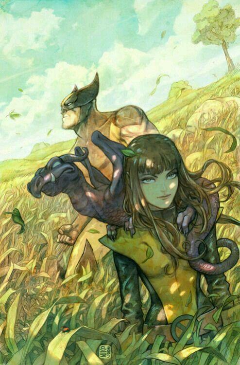 Wolverine & Kitty Pryde.